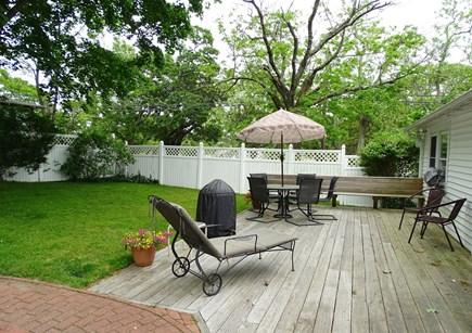 Oak Bluffs Martha's Vineyard vacation rental - Deck area and fenced in back yard
