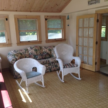 Edgartown Martha's Vineyard vacation rental - Sunroom with cathedral ceiling