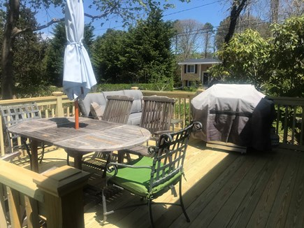 Edgartown Martha's Vineyard vacation rental - Deck on side of house with grill