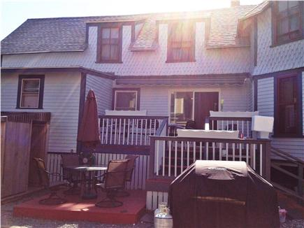 Oak Bluffs Martha's Vineyard vacation rental - Side porch w/ retractable awning, outdoor shower, & grill patio