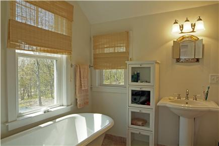 Aquinnah Martha's Vineyard vacation rental - Master bath claw foot btub