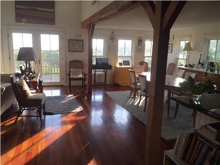 Aquinnah Martha's Vineyard vacation rental - LR and dining room