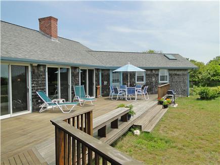 Chilmark Martha's Vineyard vacation rental - Beautiful, large deck facing water views