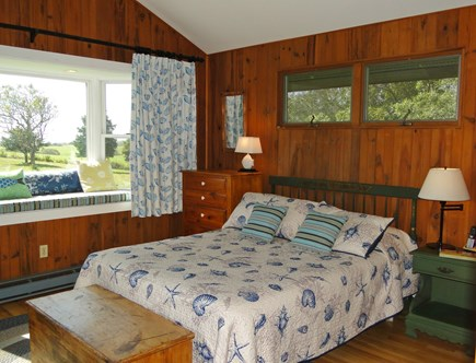 Chilmark Martha's Vineyard vacation rental - Unbelievable master bedroom with water views, and slider to deck