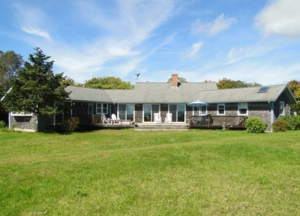 Chilmark Martha's Vineyard vacation rental - Large yard leads to beautiful ocean views