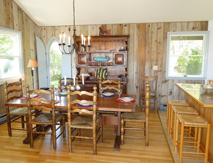 Chilmark Martha's Vineyard vacation rental - Lovely dining area with vaulted ceilings