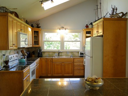 Chilmark Martha's Vineyard vacation rental - Spacious kitchen with breakfast Island, new cabinets & counters