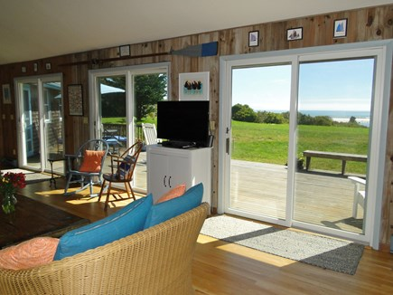 Chilmark Martha's Vineyard vacation rental - Incredible water views through the three living room sliders