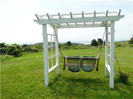 Chilmark Martha's Vineyard vacation rental - Rest and plan your day in swing overlooking the water