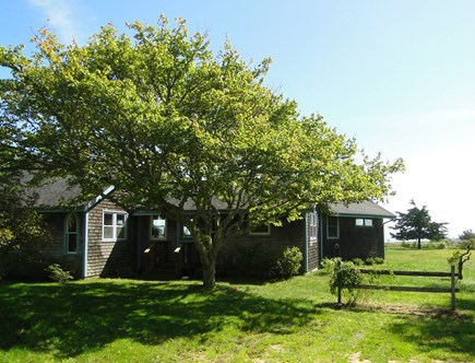 Chilmark Martha's Vineyard vacation rental - Front of house from driveway