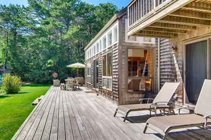West Tisbury Martha's Vineyard vacation rental - Expansive deck