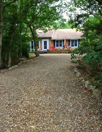 Edgartown Martha's Vineyard vacation rental - View from the end of driveway