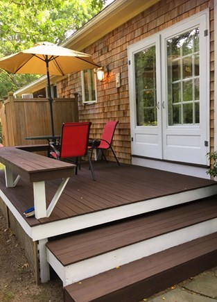 Edgartown Martha's Vineyard vacation rental - Back Deck- a shady space