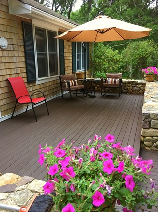 Edgartown Martha's Vineyard vacation rental - Spacious front deck .... Enjoy the abundant sunshine