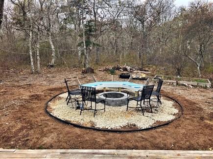 Chappaquiddick Martha's Vineyard vacation rental - Backyard/ fire pit