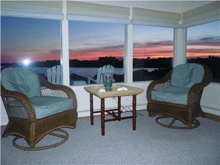 Katama - Edgartown, Edgartown Craxatucket Cove  Martha's Vineyard vacation rental - Living room with sunset views