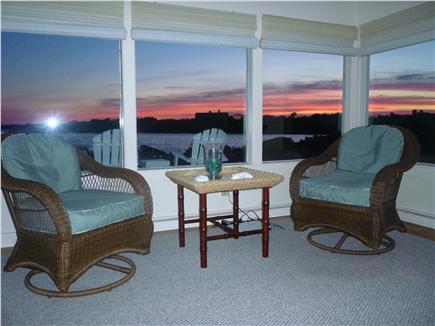 Katama - Edgartown, Edgartown Craxatucket Cove  Martha's Vineyard vacation rental - Living room with sunset views
