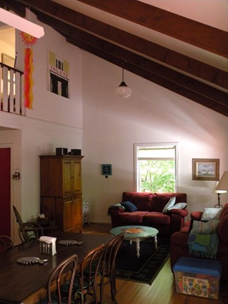 Oak Bluffs Martha's Vineyard vacation rental - Cathedral ceilings. Wifi, cable, DVD player, music, toy box.