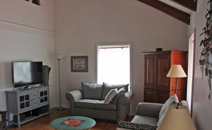 Oak Bluffs Martha's Vineyard vacation rental - Enjoy the large great room. New couches, smart TV and cabinet.