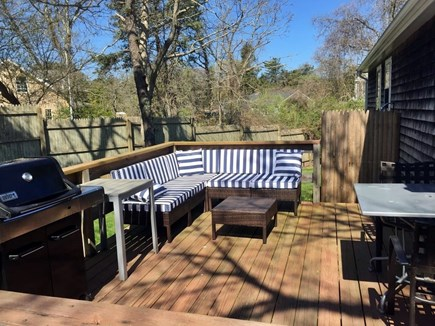 Edgartown Martha's Vineyard vacation rental - Rear deck for relaxing and an outdoor shower