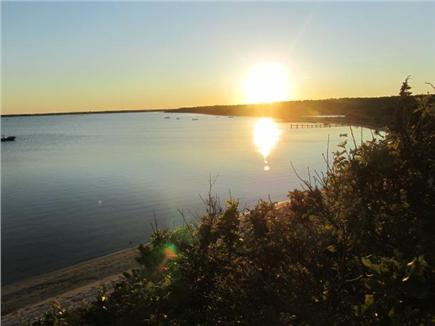 Chappaquiddick, Edgartown Martha's Vineyard vacation rental - View of pond and Katama Bay at sunset