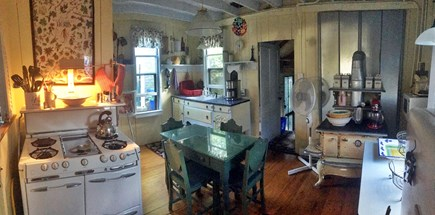 Oak Bluffs Martha's Vineyard vacation rental - Kitchen -  panoramic view. Refrig(2) and D/W pantry out of view
