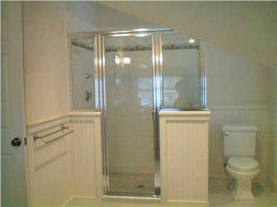 Edgartown Martha's Vineyard vacation rental - Master Bath with Rain Shower and Double Sinks 2nd Floor