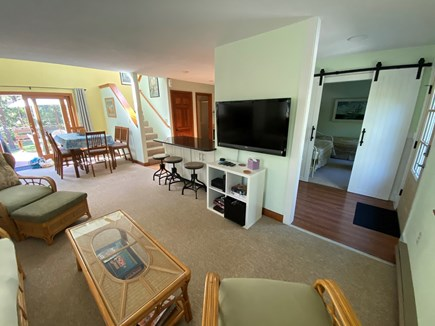 Katama - Edgartown Martha's Vineyard vacation rental - Large Concept Area With Fireplace Bar Setting And 50' HD T.V. AC