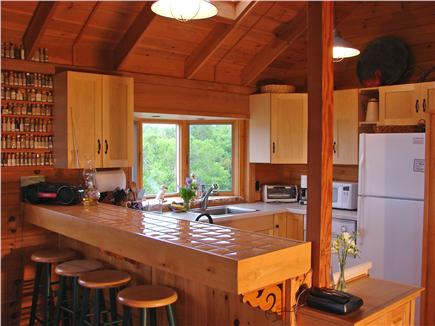 Chilmark, off South Rd. adjace Martha's Vineyard vacation rental - New kitchen appliances with breakfast bar