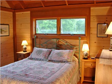 Chilmark Martha's Vineyard vacation rental - Delightful queen sized bedroom with water views