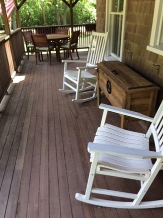 West Tisbury, Upper Makonikey Martha's Vineyard vacation rental - Relax on the wrap around deck
