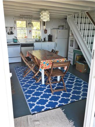 Chilmark, Menemsha Martha's Vineyard vacation rental - Kitchen has 1 of 2 working fireplaces.Sunsets light it up rosy.