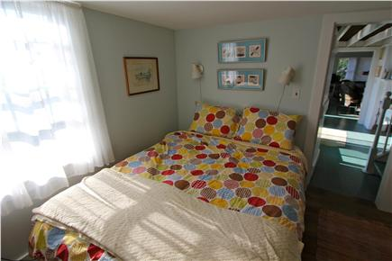 Chilmark, Menemsha Martha's Vineyard vacation rental - Downstairs queen. Corner bedroom has windows on two sides.