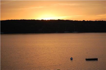 Oak Bluffs Martha's Vineyard vacation rental - Sunset from the back yard