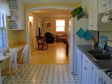 Vineyard Haven Martha's Vineyard vacation rental - Kitchen to living room