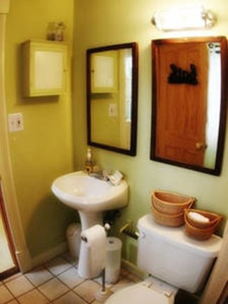Vineyard Haven, Tisbury Martha's Vineyard vacation rental - Full bathroom with bath/shower; Outdoor shower as well