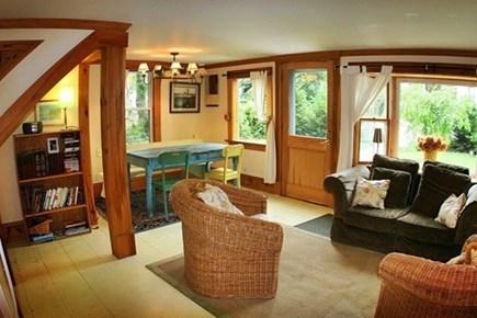 Vineyard Haven, Tisbury Martha's Vineyard vacation rental - open airy living area that gets plenty of sun and windows