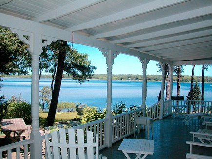 Vineyard Haven Martha's Vineyard vacation rental - View from the porch looking out at Lake Tashmoo