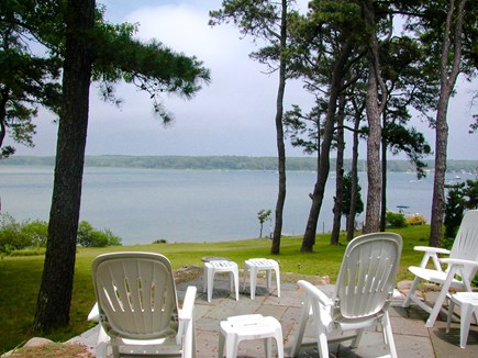 Vineyard Haven Martha's Vineyard vacation rental - View from the patio with picnic table and weber charcoal grill