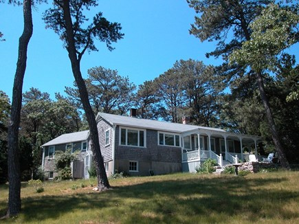 Vineyard Haven Martha's Vineyard vacation rental - A view of the cottage from across the yard