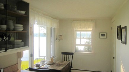 Vineyard Haven Martha's Vineyard vacation rental - Kitchen breakfast area with views views galore