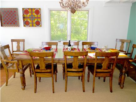 Katama - Edgartown, Edgartown Martha's Vineyard vacation rental - Dining area with seating for 10 and fireplace