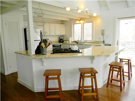 Katama - Edgartown, Edgartown Martha's Vineyard vacation rental - Newly renovated kitchen with slider to deck