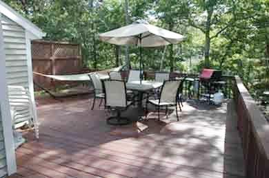 Vineyard Haven Martha's Vineyard vacation rental - Deck with gas grill and hammock