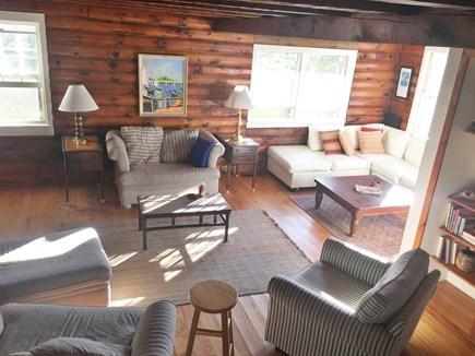 Chappaquiddick, Edgartown Martha's Vineyard vacation rental - Living Room in main house