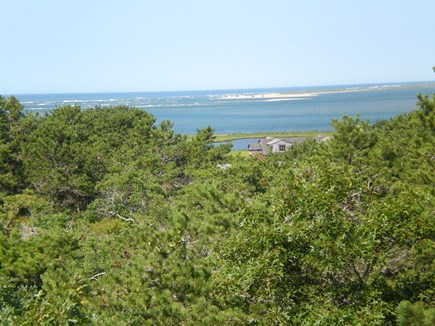 Chappaquiddick, Edgartown Martha's Vineyard vacation rental - View from the upstairs bedroom of Katama Bay and the Ocean beyond