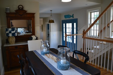 In Town Edgartown Martha's Vineyard vacation rental - Kitchen with Breakfast Area/Back Entry,Kitchen with Breakfast Rm