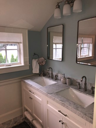 In Town Edgartown Martha's Vineyard vacation rental - Master Bath Double Sinks
