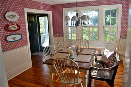 In Town Edgartown Martha's Vineyard vacation rental - Newly Redecorated Dining Room