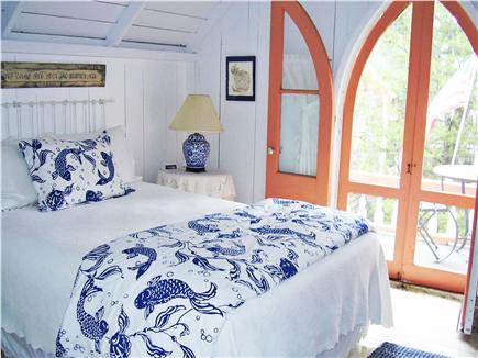 Oak Bluffs Martha's Vineyard vacation rental - Front bedroom with balcony and table for morning coffee